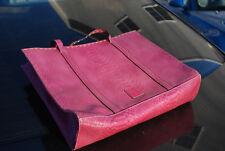 Liz Clairborne pink faux leather snake skin satchel purse handbag bag