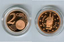 manueduc    2  Céntimos  De ESTUCHE  SAN MARINO 2008  PROOF   NUEVO