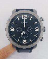 Fossil Herren-Armbanduhr XL Analog Quarz Leder TI1005 Leather Black Free Ship