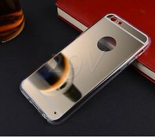 Luxury TPU Ultra-thin Mirror Metal Case Cover For iPhone 4 / 5 / 6 4.7  Plus 5.5