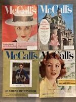 4 VINTAGE McCALL'S MAGAZINES January - April 1956 Duchess of Windsor Interview