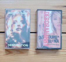 DEBORAH HARRY 2 cassette tapes, Def, Dumb & Blonde, Debravation, Blondie, Debbie