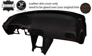 RED STITCH LEATHER DASH DASHBOARD SKIN COVER FOR NISSAN S13 200SX 180SX 88-93