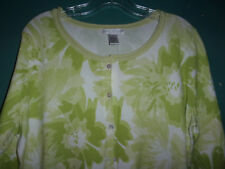 NWT Sarah Spencer light lime green cardigan sweater   Size  1X