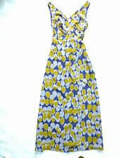 BODEN LIMITED EDITION Sleeveless 100% SILK V-Neck MAXI DRESS SUNDRESS US 12 UK16