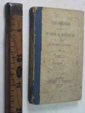 1859 NAPOLI VOCABOLARIO D' ARTI E MESTIERI GIACINTO CARENA CARMAGNOLA LIBRO SC49