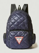 GUESS Men's Backpack, Navy Blue Quilted Outdoor Folding Bag, New With Tag
