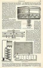 Bierbrauerei Brauerei Bier Sudhaus HOLZSTICHE + Text von 1905 Maismaschine