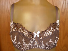 * Womens New Felina Lingerie Bra Size 34B 34 B Brown Lace Underwire