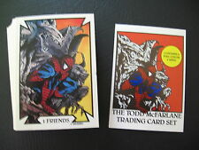 1989 MARVEL TODD McFARLANE COMPLETE SERIES 1 CARD SET , SPIDERMAN + HEADER CARD