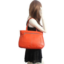 Orange Italian Leather Handbag, Purse Hobo Bag, Satchel, Tote, Clutch