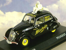 "DIECAST 1/43 PEUGEOT 202 ""PNEUS MICHELIN""  WITH BIBENDUM TYRE FIGURE ON ROOF"