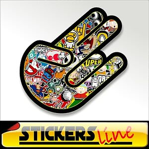 Stickers adesivo THE SHOCKER - STICKERS BOMB shocker hand stickersbomb M1 tuning