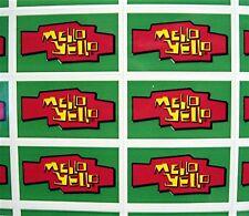 44 Mello Yello Soda Stickers Coca Cola USA Adv Sheet