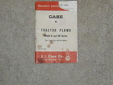 CASE  Tractor Plows Model B and BH Series 2,3,4,5 bottom plows.