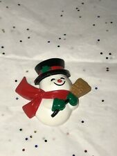 Vintage 1989 Snowman Magnet Hallmark Christmas collectible Cute! Xmg1562