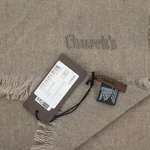 CHURCH'S England Casual Chic Stole Scarf Beige Pure Cashmere Made in Italy