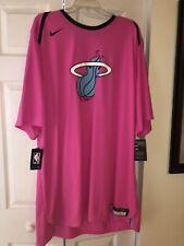 Nike NBA Miami Heat Earned Edition Essential Logo Vice Dri-FIT T-Shirt SZ 3XL-TT