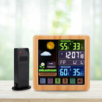 Wireless Weather Station LCD Display Thermometer Hygrometer with Sensor for Home
