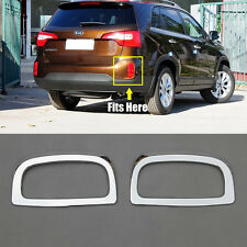 2PCS FOR 13 2014 KIA SORENTO REAR BUMPER FOG LIGHT LAMP CHROME COVER REFLEX LENS