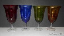 Vintage Multi Color Wine Glass Stemware