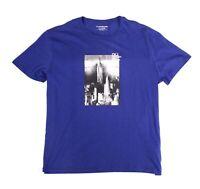 Calvin Klein Jeans Mens Shirt Blue Size 2XL Graphic Tee New York $39 #027