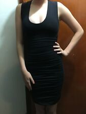 Kookaï  ROUCHED SIDES STRETCHY POLYAMIDE Dress BLACK  Colour Sz 1 (F25) BNWOT