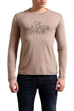 Gianfranco Ferre Men's Beige Wool Silk Long Sleeve T-Shirt US M IT 50