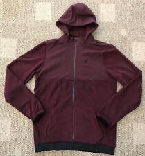 Nike Air Jordan Men's Full Zip Fleece Hoodie Jacket Bordeaux Size Large L Aq8074