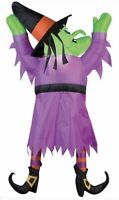 Gemmy Airblown Inflatable Witch Hanging From Gutter