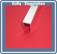 U-Abschlussprofil für 10 mm Stegplatten, Aluminium, pressblank, 1050 mm lang