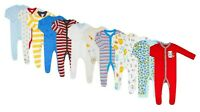 Baby Girls Boys Sleepsuits Ex Store 2 Pk / 3 Pk Baby Grows 100% Cotton Romper