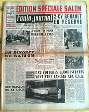 L'AUTO-JOURNAL n°112 du 10/1954; Edition Spécial Salon/ 2CV renault/ Fluo