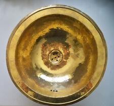 Vasque cuivre ronde Marocaine évier lave main lavabo salle de bain 38 cm b2