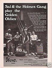 VINTAGE PRINT AD 1975 Sal & The Holmes Gang play Oldies Ibanez Guitar Ad