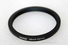 Kood 58-52mm, 58mm - 52mm stepping ring. step down ring. UK seller UK stock