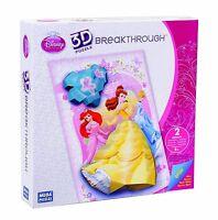 Mega Bloks 50676 3D Breakthrough Princess Puzzle Arielle Bella Cinderella Disney