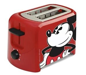 Disney DCM-21 Mickey Mouse 2 Slice Toaster, Red/Black Free Shipping