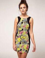 Stunning River Island Chain Print Bodycon Evening Summer Dress Size 10