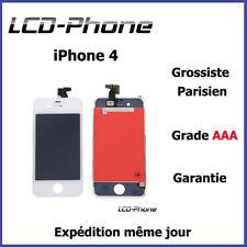 Ecran iPhone 4 Blanc LCD + Vitre Tactile Sur Chassis - Grade AAA ENVOI 24H✔