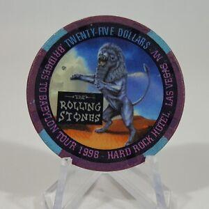 Hard Rock Casino Las Vegas Nevada 1999 Rolling Stones $25 Gaming Chip. Excellent