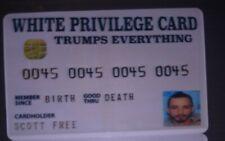 White privilege card (gag joke)