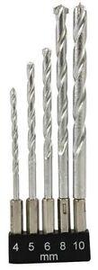 "5Pc Masonry Drill Bit Set 4-10Mm 1/4"" Hex Shank Steel Concrete Hammer"