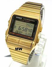 Casio Gold Tone DataBank Data Bank Vintage Mens Ladies Watch DB380G DB-380G-1D