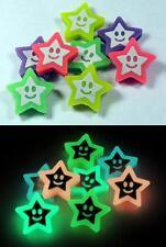 Glow-in-the-Dark School Erasers - STARS - Glowing Kids Eraser Set ~ Anime