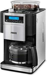 Princess 249402 Coffee Maker With Grinder Deluxe 42.3oz Intensity Of Adjustable