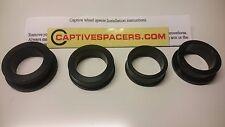 CBR1000RR CBR 1000 2004- 2007 Captive wheel Spacers. Full set. Black