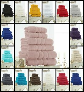 Luxury Zero Twist 100% Egyptian Cotton 600GSM Hand Towel Bath Towels Bath Sheets