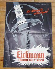 RARE AFFICHE CINEMA DOCUMENTAIRE 1961 EICHMANN L'HOMME DU 3ème REICH E. LEISER