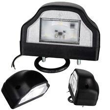 LED Kennzeichenbeleuchtung Anhänger Kennzeichenleuchte schwarz 3 LED LKW 12V 24V